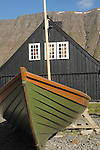 Boat, Historic house, Isafjord, Iceland