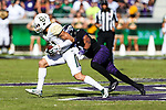 Baylor Bears wide receiver Blake Lynch (21) in action during the game between the Baylor Bears and the TCU Horned Frogs at the Amon G. Carter Stadium in Fort Worth, Texas.