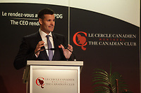 Montreal, CANADA, February 16, 2015, Lino A. Saputo Jr , CEO, SAPUTO Inc  speak at the Canadian Club of Montreal tribune.<br /> <br /> <br /> <br /> Photo : Agence Quebec Presse - Pierre Roussel