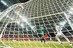 Emanuel Mammana of Argentina (R) score his goal during the International Test match between Argentina and Singapore at National Stadium on June 13, 2017 in Singapore. Photo by Marcio Rodrigo Machado / Power Sport Images