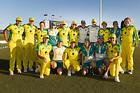 4th April 2021; Bay Oval, Taurange, New Zealand;  The Australia women's team with 22 straight ODI wins after the 1st women's ODI White Ferns versus Australia Rose Bowl cricket match at Bay Oval in Tauranga.