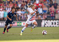 Kansas City, KS - July 26, 2018: The USWNT defeated Japan 4-2 during the first match of the Tournament of Nations at Children's Mercy Park.