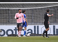 9th January 2021; Memorial Stadium, Bristol, England; English FA Cup Football, Bristol Rovers versus Sheffield United; Lys Mousset of Sheffield United celebrates after Bristol scored an own goal in the 6th minute for 0-1