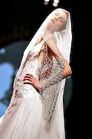 Roma 29/1/2004 <br /> Alta Moda Roma - Haute Couture - Fashion<br /> Dress collection of Libanese stylist Abed Mafouz<br /> In this picture a bride dress.<br /> Foto Andrea Staccioli Insidefoto
