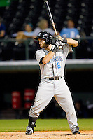 Jim Negrych (8) of the Syracuse Chiefs at bat against the Charlotte Knights at Knights Stadium on August 29, 2012 in Fort Mill, South Carolina.  (Brian Westerholt/Four Seam Images)