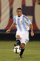 Argentina defender Martin Demichelis (2). The men's national teams of the United States and Argentina played to a 0-0 tie during an international friendly at Giants Stadium in East Rutherford, NJ, on June 8, 2008.