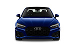 Car photography straight front view of a 2021 Audi A5-Coupe S-Line 2 Door Coupe Front View