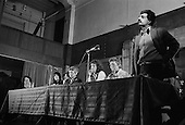 Tariq Ali (IMG).  United Troops Out Movement Smash H Block meeting, Conway Hall