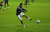 EDIT: Chris Willock of Queens Park Rangers warming up during Queens Park Rangers vs Rotherham United, Sky Bet EFL Championship Football at The Kiyan Prince Foundation Stadium on 24th November 2020
