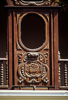 Peru, Lima.  18th. Century Bishop's Coats of Arms Carved in Wood,  Church and Convent of Santo Domingo.