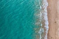 Aerial view of the beach, Bahía de Kino in Sonora, Mexico .. landscape, sea, beach tourist destination, travel, Gulf of California, aerial, high angle view, northwest, calm, aerial photography, horizon. which is located between the Baja California peninsula. tourist destination. mainland (Photo: Luis Gutierrez / NortePhoto.com)<br /> <br /> Vista aerea de playa, Bahía de Kino en Sonora, México..paisaje, mar, playa destino turistico, viaje, Golfo de California, aerial, high angle view,  northwest, calma, fotografia aerea, horizonte.El Mar de Cortes o mar Bermejo que se encuentra entre la península de Baja California. destino turístico. tierra firme  (Photo: Luis Gutierrez / NortePhoto.com)