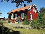 Colorful Homestead on the Island of Kökar, Åland, Finland