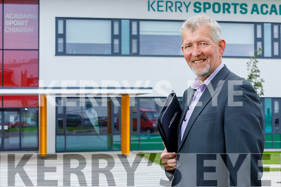 Pat McGarty stands outside the Kerry Sports Academy.
