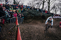 race leader Wout Van Aert (BEL/Crelan-Charles) <br /> <br /> Elite Men's Race<br /> UCI CX Worlds 2018<br /> Valkenburg - The Netherlands