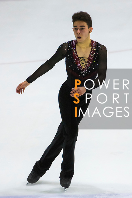 Giuseppe Triulcio of Australia competes in Junior Men group during the Asian Open Figure Skating Trophy 2017 at Mega Ice on 03 August, 2017 in Hong Kong, China. Photo by Yu Chun Christopher Wong / Power Sport Images