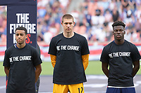 SANDY, UT - JUNE 10: Tyler Adams, Ethan Horvath, Yunus Musah of the United States during a game between Costa Rica and USMNT at Rio Tinto Stadium on June 10, 2021 in Sandy, Utah.