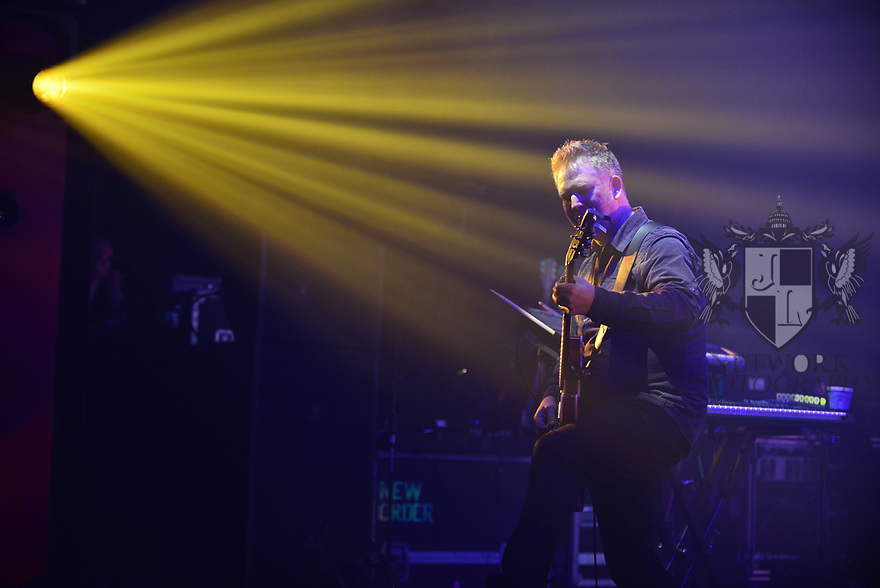 MIAMI BEACH, FLORIDA - JANUARY 18: Phil Cunningham of New Order performs on stage at the Fillmore Miami Beach at the Jackie Gleason Theater on January 18, 2020 in Miami Beach, Florida.  ( Photo by Johnny Louis / jlnphotography.com )