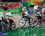 Melanie Hawtin, Rio 2016 - Wheelchair Basketball // Basketball en fauteuil roulant.<br /> The Canadian women's wheelchair basketball team competes against Argentina in the preliminaries // L'équipe canadienne féminine de basketball en fauteuil roulant affronte l'Argentine dans la ronde préliminaire. 10/09/2016.