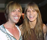 Miami Beach, FL 3-9-2002<br /> March cover girl Heidi Klum (r) <br /> arrives at Crobar with Steven Cojocaru <br /> (l) for Ocean Drive Magazine's March, <br /> 2002 issue release party.<br /> Photo by Adam Scull/PHOTOlink