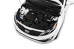 Car Stock 2016 KIA Sportage SX 5 Door Suv Engine  high angle detail view