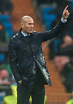 Manager Zinedine Zidane of Real Madrid gestures during the La Liga 2017-18 match between Real Madrid and Villarreal CF at Santiago Bernabeu Stadium on January 13 2018 in Madrid, Spain. Photo by Diego Gonzalez / Power Sport Images