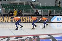 SPEEDSKATING: 12-02-2020, Utah Olympic Oval, ISU World Single Distances Speed Skating Championship, Letitia de Jong (NED), Femke Beuling (NED), Ireen Wüst (NED), ©Martin de Jong
