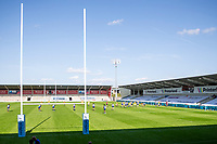 13th September 2020; AJ Bell Stadium, Salford, Lancashire, England; English Premiership Rugby, Sale Sharks versus Bath; The game takes place in front of empty stands