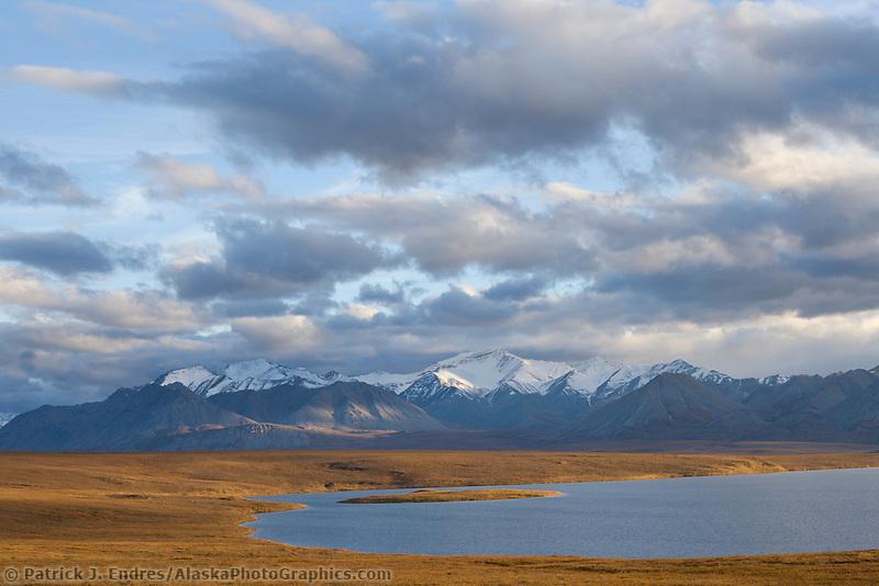 Island lake and the endicot mountains of the Brooks Range, Alaska