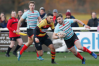 Ben Ransom of Blackheath Rugby on the ball during the English National League match between Richmond and Blackheath  at Richmond Athletic Ground, Richmond, United Kingdom on 4 January 2020. Photo by Carlton Myrie.
