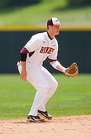 Shortstop Tim Smalling #8 of the Virginia Tech Hokies on defense against the Boston College Eagles at English Stadium May 2, 2010, in Blacksburg, Virginia.  Photo by Brian Westerholt / Four Seam Images