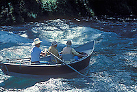 McKenzie River Drift Boat and fly fishermen on McKenzie River, Oregon