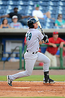 Jupiter Hammerheads outfielder Alex Burg (29) during a game against the Clearwater Threshers July 21, 2013 at Bright House Field in Clearwater, Florida.  Jupiter defeated Clearwater 1-0.  (Mike Janes/Four Seam Images)