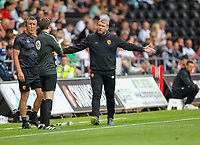 11th September 2021; Swansea.com Stadium, Swansea, Wales; EFL Championship football, Swansea versus Hull City; Grant McCann manager of Hull City gestures to the fourth official