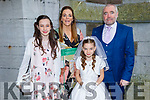 Aine O'Shea receiving her First Holy Communion from Presentation NS in St John's Church on Saturday. L to r: Máire, Caroline, Aine and Cathal O'Shea.