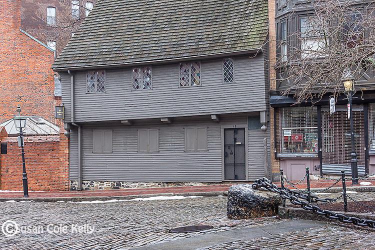 The Paul Revere House, Boston National Historical Park, Boston, Massachusetts, USA