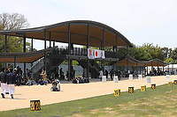 April 28th 2019; TOKYO, Japan, the Yumenoshima Park Archery Field, a new permanent venue that will be used for the 2020 Summer Olympic Games and Paralympic Games