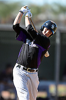 Colorado Rockies outfielder Jordan Patterson (78) during an instructional league game against the Los Angels Angels of Anaheim on September 30, 2013 at Tempe Diablo Stadium Complex in Tempe, Arizona.  (Mike Janes/Four Seam Images)