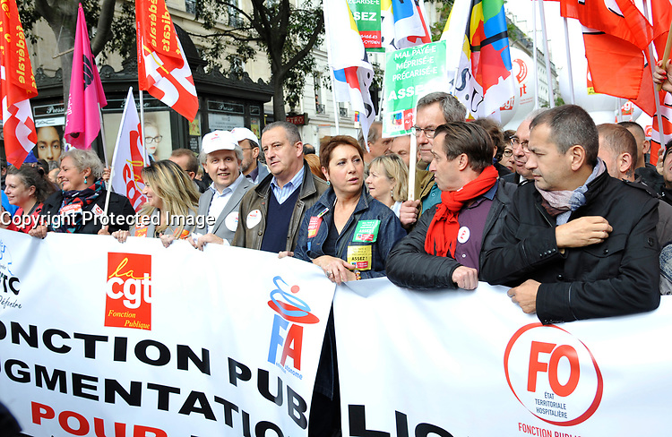 October 10 2017, Paris, France. Demonstration against the Labor Law. # MANIFESTATION CONTRE LA LOI TRAVAIL