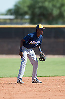 Milwaukee Brewers shortstop Korry Howell (40) during an Instructional League game against the San Diego Padres at Peoria Sports Complex on September 21, 2018 in Peoria, Arizona. (Zachary Lucy/Four Seam Images)