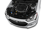 Car Stock2015 Hyundai Genesis Coupe 3.8T 8-Speed A/T 2 Door Coupe 2WD Engine high angle detail view