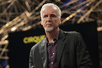 Director James Cameron announce adress the medias about a joint project with Cirque du Soleil,<br /> May 29, 2015 in Montreal, Canada.
