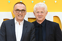 """LONDON, UK. June 18, 2019: Danny Boyle and Richard Curtis arriving for the UK premiere of """"Yesterday"""" at the Odeon Luxe, Leicester Square, London.<br /> Picture: Steve Vas/Featureflash"""