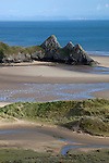 United Kingdom, Wales, Swansea, Gower Peninsula: Three Cliffs Bay | Grossbritannien, Wales, Swansea, Gower Halbinsel: Three Cliffs Bay