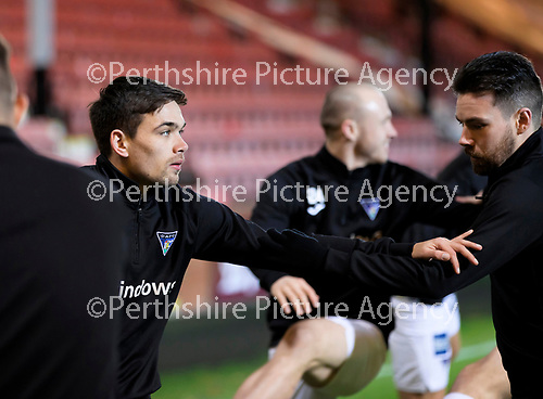 Dunfermline v St Johnstone…15.12.20   East End Park      BetFred Cup<br />Former saintee Aaron Comrie pictured during the warm-up<br />Picture by Graeme Hart.<br />Copyright Perthshire Picture Agency<br />Tel: 01738 623350  Mobile: 07990 594431