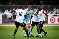 6th September 2020, Poissy,Paris, France; Football Friendly, Varietes Club de France versus Chi PSG;  Pierre Yves Andre (Variete France ) - Aziz Samir (Chi PSG )