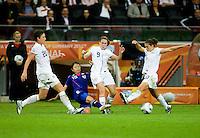 Abby Wambach, Aya Sameshima, Heather O'Reilly, Carli Lloyd.  Japan won the FIFA Women's World Cup on penalty kicks after tying the United States, 2-2, in extra time at FIFA Women's World Cup Stadium in Frankfurt Germany.