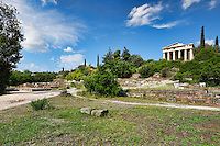 The Temple of Hephaistos (460 B.C.) also known as Theseion in the Ancient Athenian Agora, Greece
