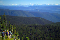 Hiking the Wells Gray wilderness, BC, Canada