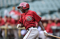 Arizona Diamondbacks outfielder Marcus Wilson (8) during an Instructional League game against the Oakland Athletics on October 10, 2014 at Chase Field in Phoenix, Arizona.  (Mike Janes/Four Seam Images)
