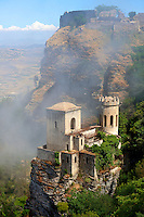 Torretta Pepoli, picturesque castle, Erice, Sicily , colour photo.
